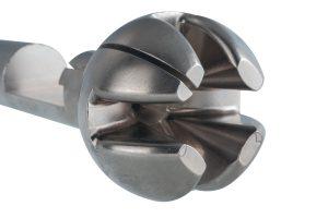 Material: Aluminium | Abmaße: Länge 210mm, Ø 70mm | Besonderheit: dreidimensionale Kontur